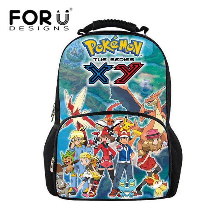 2016 Back To School Backpack Bags For Children Dragon Ball Printing Teenager Boys Big Backpacks Pokemon