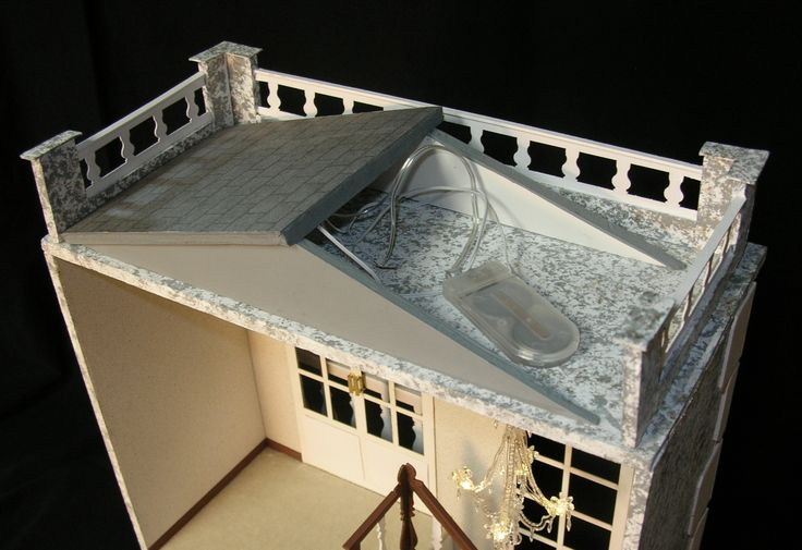 """Roof hides battery for lights for """"A Hall for All Seasons"""" by Ron Mummert"""