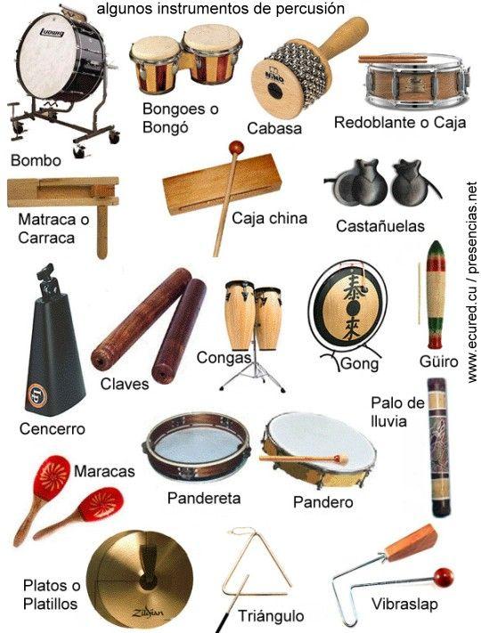 Resultado de imagen para instrumentos de percusión lista