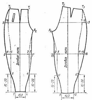 чертеж брюк - бананов