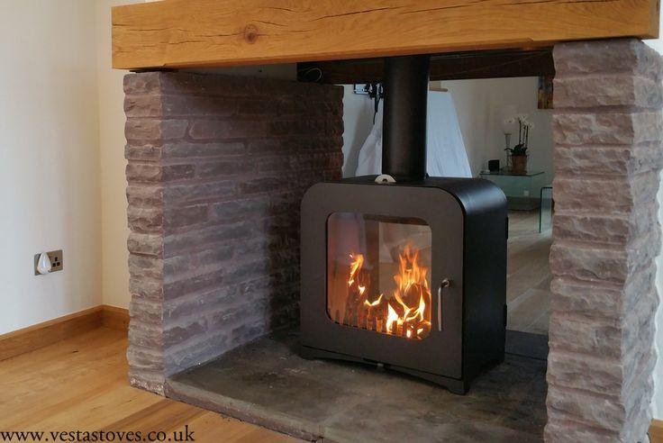 12kw wood burning stove sided fireplace ideas