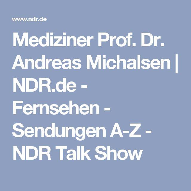 Mediziner Prof. Dr. Andreas Michalsen | NDR.de - Fernsehen - Sendungen A-Z - NDR Talk Show