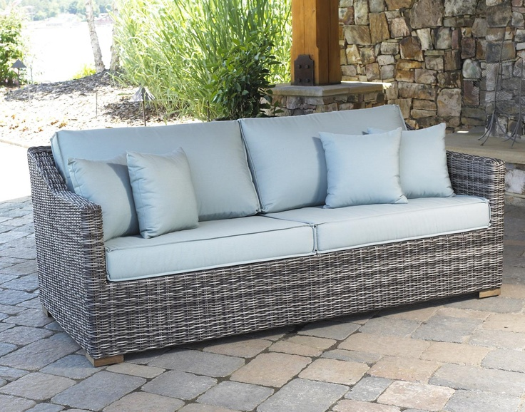 Outdoor Wicker Patio Sofa Portafino Pinned By Http://www.wickerparadise.com