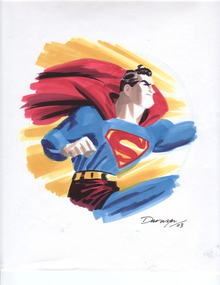 Cooke - Superman prelim Comic Art