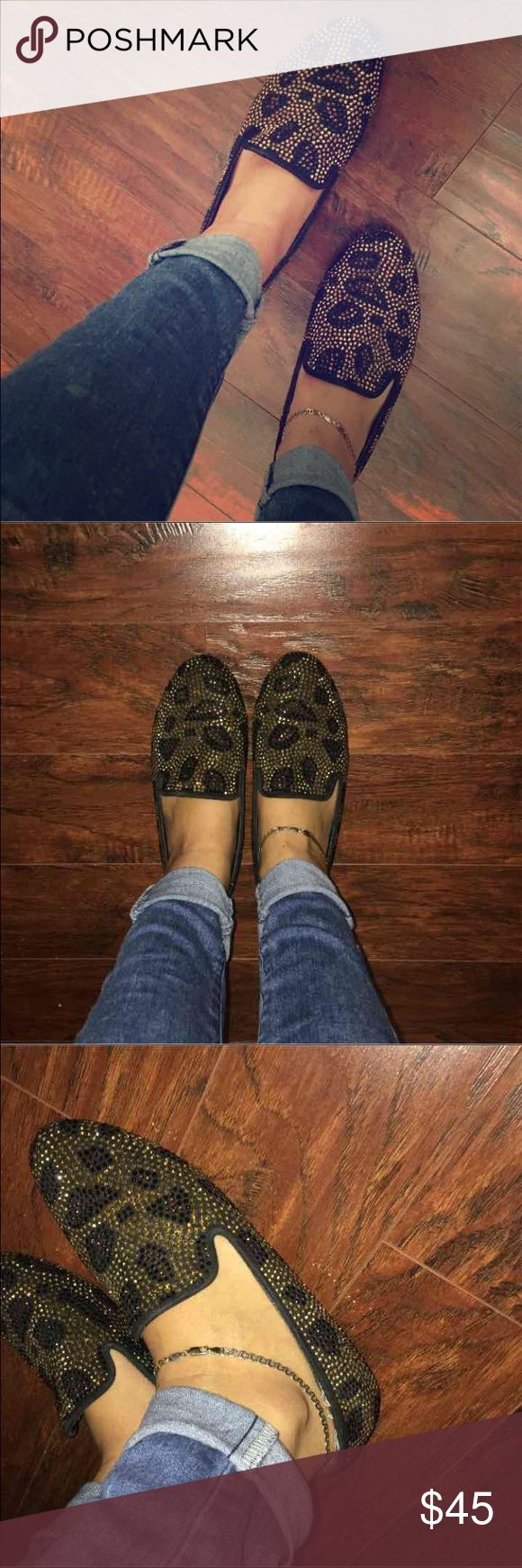 Steve Madden Loafers Cheetah/Leopard print Steve Madden loafers. Worn a few times. Originally $100. Steve Madden Shoes Flats & Loafers