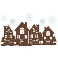 Výsledek obrázku pro houses silhouettes for christmas