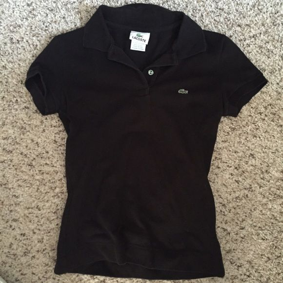 FINAL SALE🌟Authentic Lacoste Women's Polo Authentic Lacoste, black, excellent condition. Size 34. Price is firm! Lacoste Tops