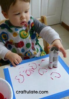 Alla hjärtan dag pyssel till förskolebarn