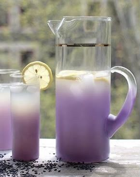 Try lavender lemonade, signature drink purple summer wedding                                                                                                                                                      More