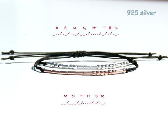 Mother Daughter BraceletMother Daughter Morse Code Bracelet