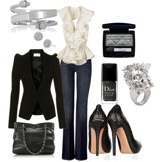GlamShoes, Fashion Outfit, Dates Night Outfit, Fashion Ideas, Style, Clothing, Black White, Blazers, Work Outfit