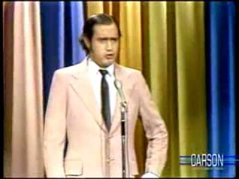 This is one of the best Elvis impersonations ever from the very strange comic Andy Kaufman appearing for the first time on 'The Tonight Show Starring Johnny Carson'. To see it, click twice on the image.