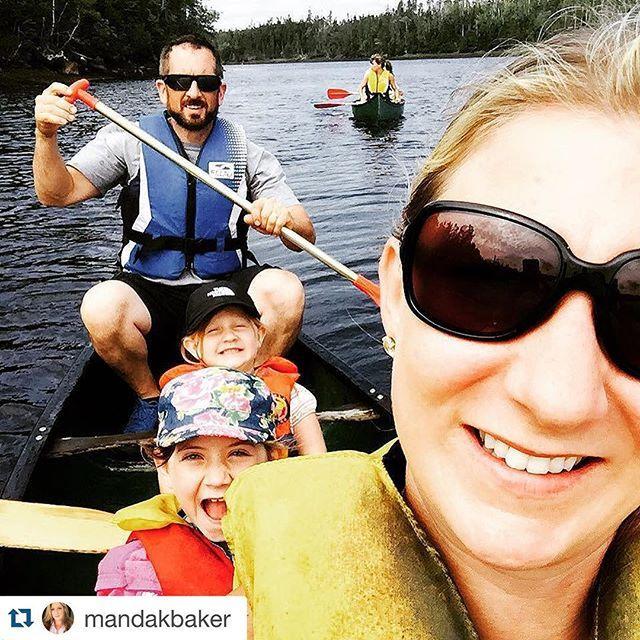 So much family fun! Thanks @mandakbaker ! ・・・ #canoeing #liscomblodge #sunnyday #easternshore #missmagoo #misskathleen #canoeselfie
