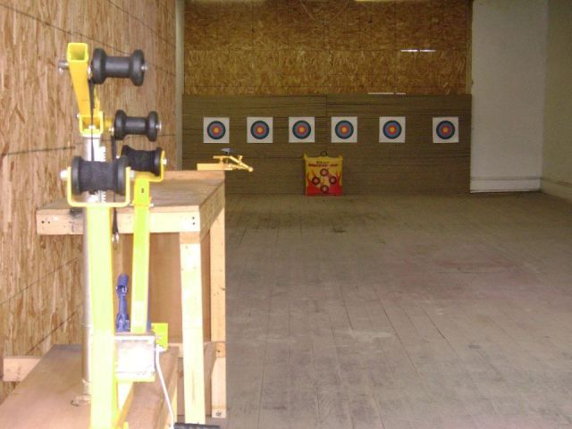 For The Basement Indoor Archery Range With Rock Wall