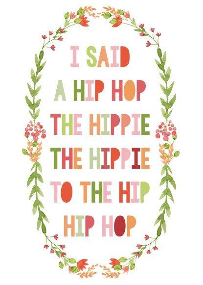 "Fun ""Rapper's Delight Lyric"" FREE Spring Printable via Mommy Like Whoa"