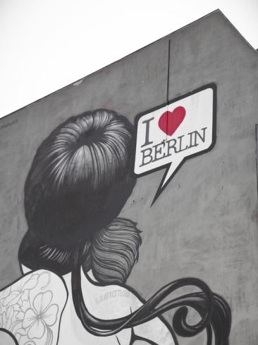 I Love Berlin' Mural on Building, Berlin, Germany