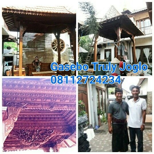 Our Gazebo Project in desa Kapal, Badung, Bali. Size 190cm X 270 centimeters column 13cm. Made of recycled teak and hand carved beautifully as a decoration in front of the house with good roofing using terracotta tiles typically from Java. Info:  Telp/Whatsapp:(+62) 08112724234  Facebook: Arif Joglo Java Bali email: Truly.Arifsuryanto@Gmail.com Www.trulyjoglohouse.blogspot.co.id