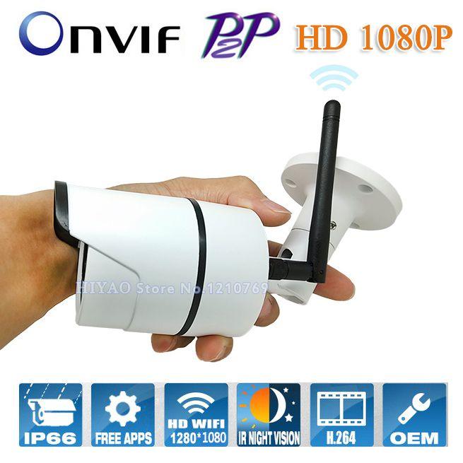 Onvif IP camera WIFI Megapixel 1080p HD Outdoor Wireless Digital Security CCTV IP Cam IR Infrared P2P Bullet Kamera 2.0MP