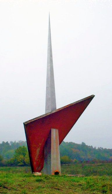 Slabinja #momument / www.spomeniky.com/slabinja / #balkan #spomenik #brutalist #utopian #concrete #brutalism #architecture #slabinja