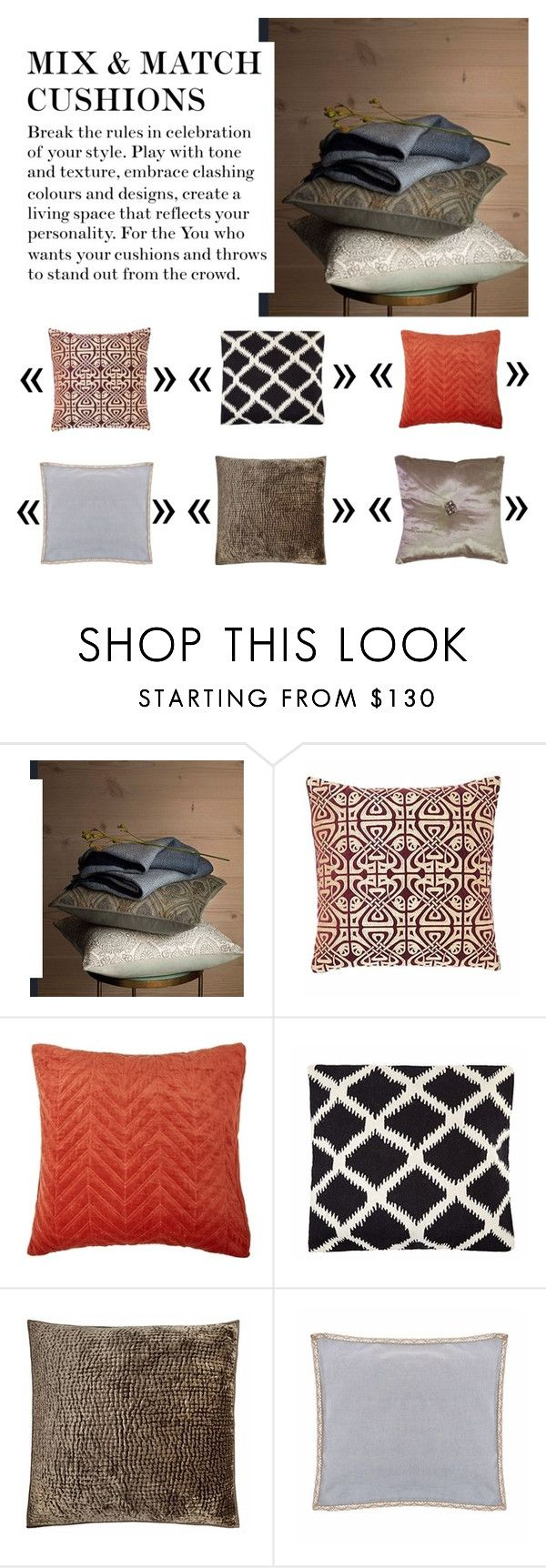 """""""MIX & MATCH CUSHIONS"""" by house-of-fraser ❤ liked on Polyvore featuring interior, interiors, interior design, home, home decor, interior decorating and House of Fraser"""