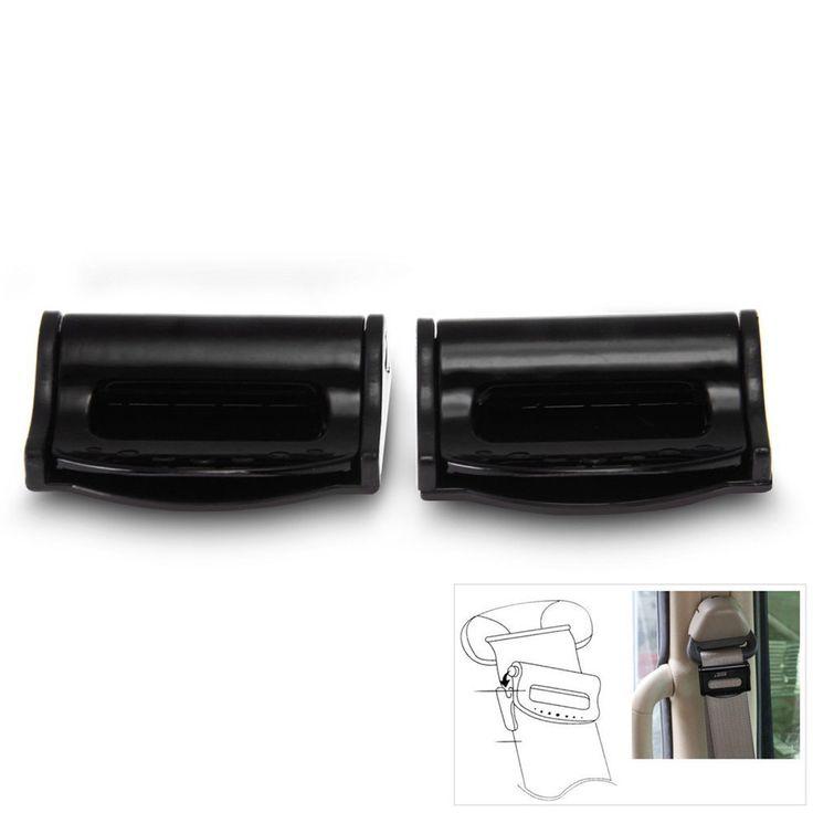 Estilo nuevo coche Universal Par de Seguridad Cinturón de Seguridad Cinturón de seguridad de Coche Clip de Tapón De Plástico Negro Hebilla