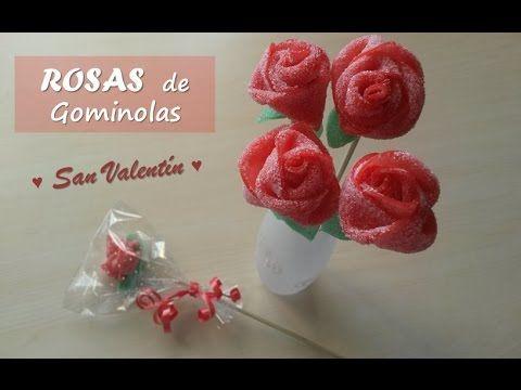 DIY Rosas de chuches o gominolas. Candy roses. [San Valentín] - YouTube