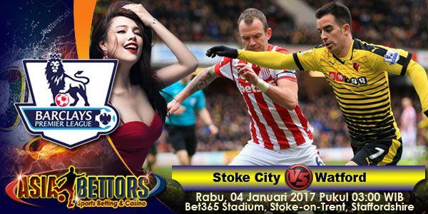 Prediksi Stoke City vs Watford, Prediksi Skor Stoke City vs Watford, yang akan bertemu pada partai lanjutan Liga Primer Inggris yang rencananya akan digelar pada hari Rabu, 04 Januari 2017 Pukul 03:00 WIB dan disiarkan secara live dari Bet365 Stadium, Stoke-on-Trent, Staffordshire.