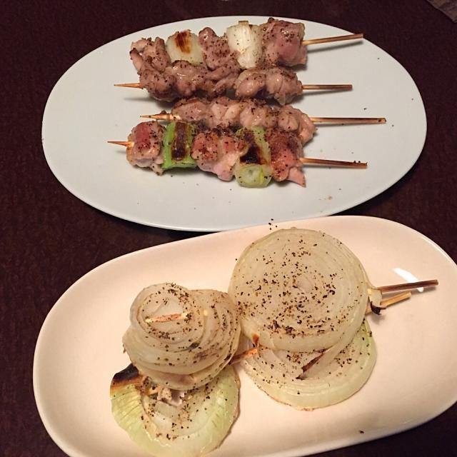 家焼鳥、美味しいです☺️ - 28件のもぐもぐ - 焼鳥(ねぎま、せせり、玉ねぎ) by tabajun
