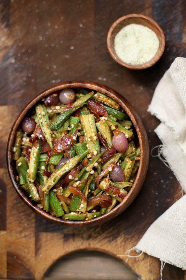 Sinfully Spicy - Bhindi Do Pyaza, Okra Stir fried With Onions004
