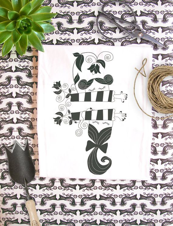 Organic Fairtrade t-shirt  Black and White by RooftopCo on Etsy