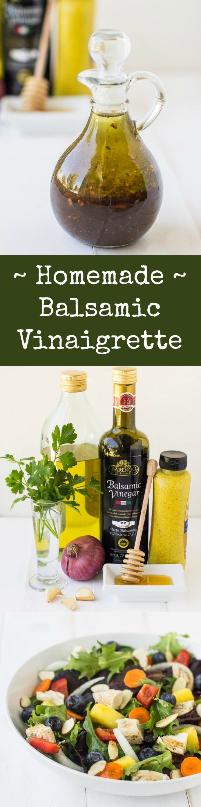 The ultimate in flavorful, healthful salad dressings! Fast and easy, this Homemade Balsamic Vinaigrette makes every salad more enjoyable.