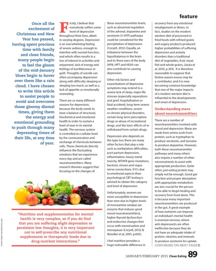 Page 2 Clean Eating Magazine 2015 Improve your Mood with Food