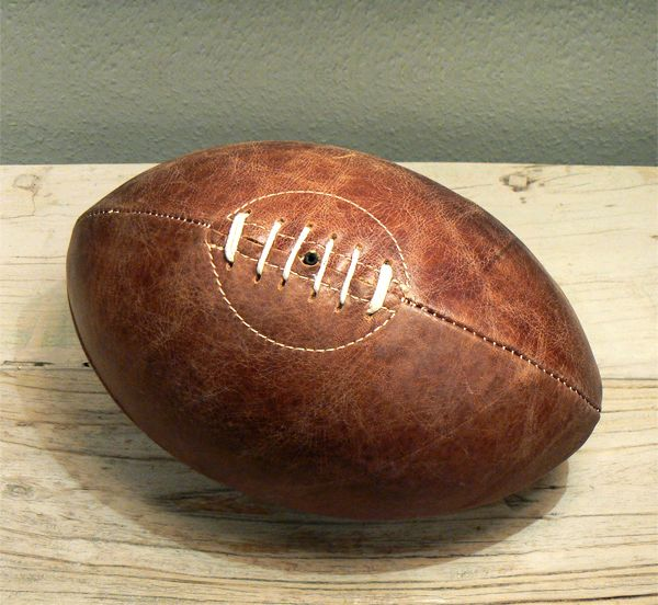 Original Vintage Leather Rugby Ball. / 200€. Email: loft.no5@gmail.com