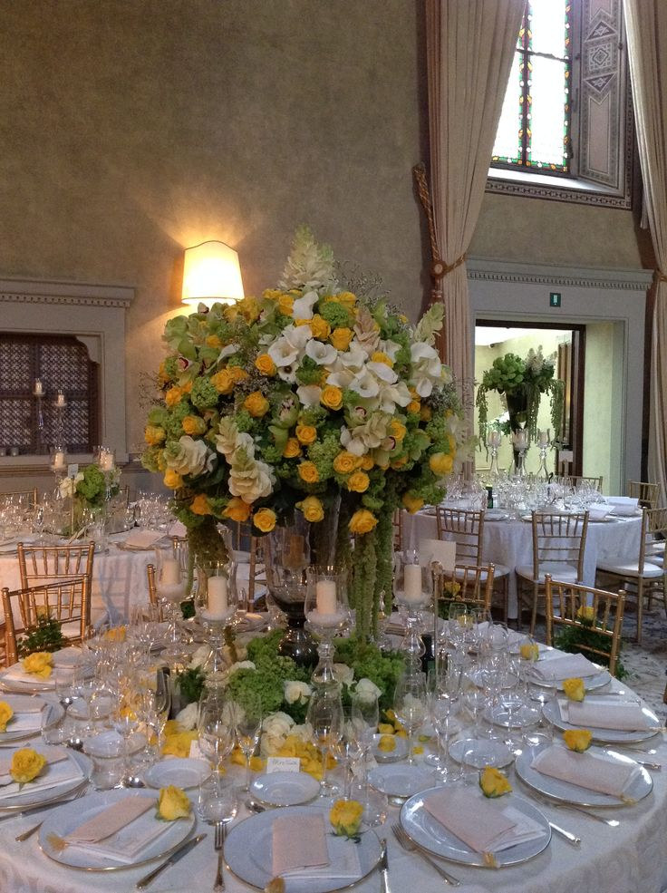 Mixed flowers tree - inspired centerpiece with candle holders