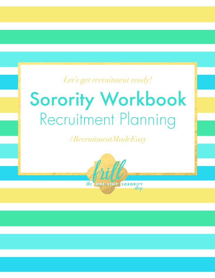 Sorority Recruitment Planning Worksheets