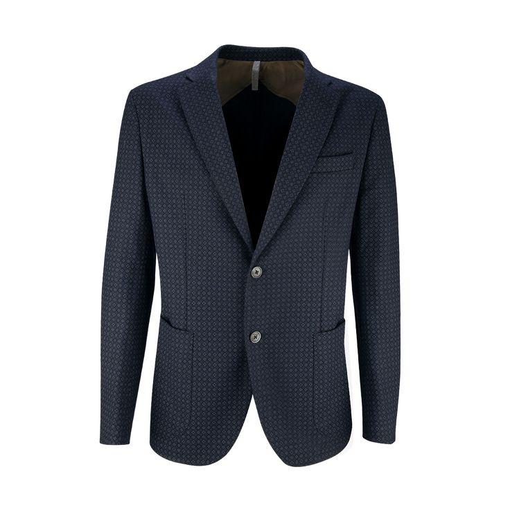Omar8 #Giacca misto lana disegno stampato con 2 botttoni e due tasche a toppa più pistagna