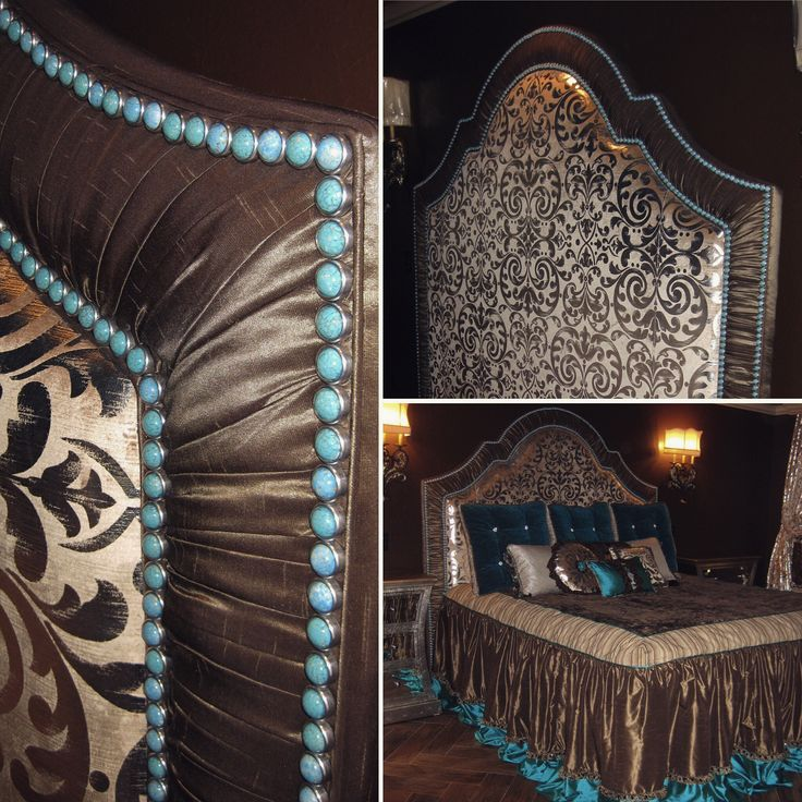 One of the firsts of headboards made using our Diamond Heads; Turquoise Matrix (15mm)