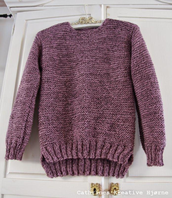 Cathrines Kreative Hjørne: Å strikke sin første genser!