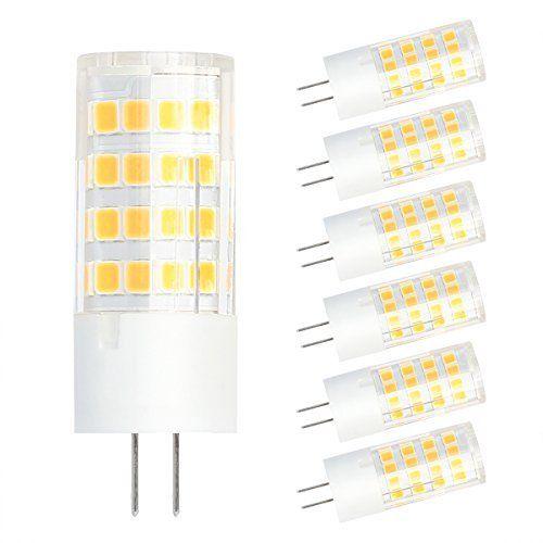 SHINE HAI G4 4W Ampoule LED, Equivalent à Ampoule Halogène/Incandescente 35W, Blanc Chaud 3000K, 320LM, 360° Large Faisceau, IRC>80, Culot…
