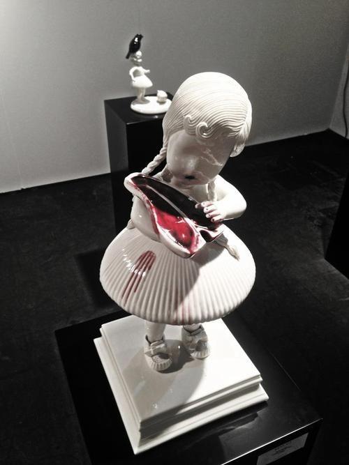Best Maria Rubinke Images On Pinterest Ceramic Sculptures - Amazingly disturbing porcelain figurines by maria rubinke