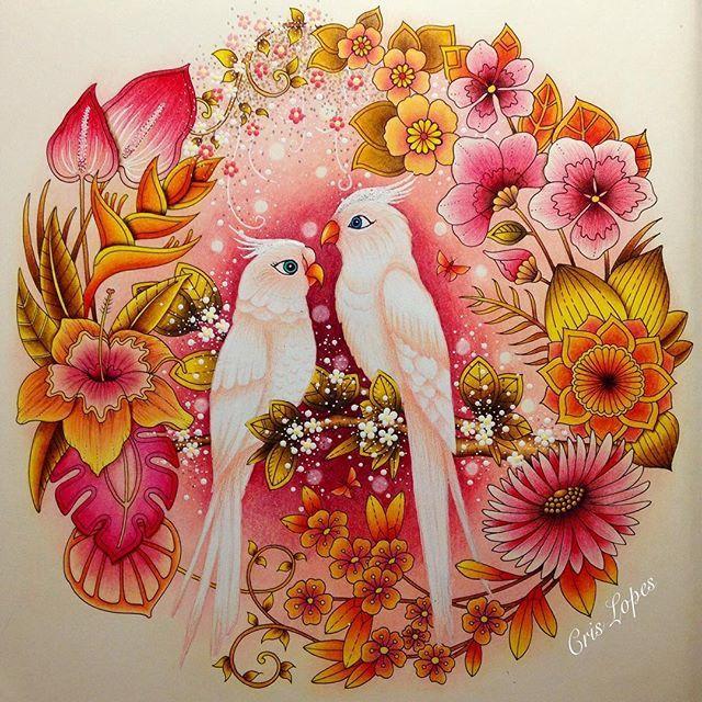 Magical Jungle (Selva Mágica) - Johanna Basford #colouringbook #colouring #divasdasartes #livrosdecolorir #johannabasford