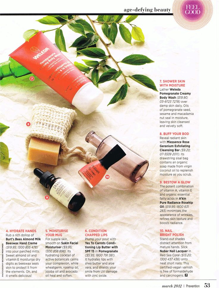 #Miessence Rose Geranium Exfoliating Cleansing Bar featured in Prevention Magazine.