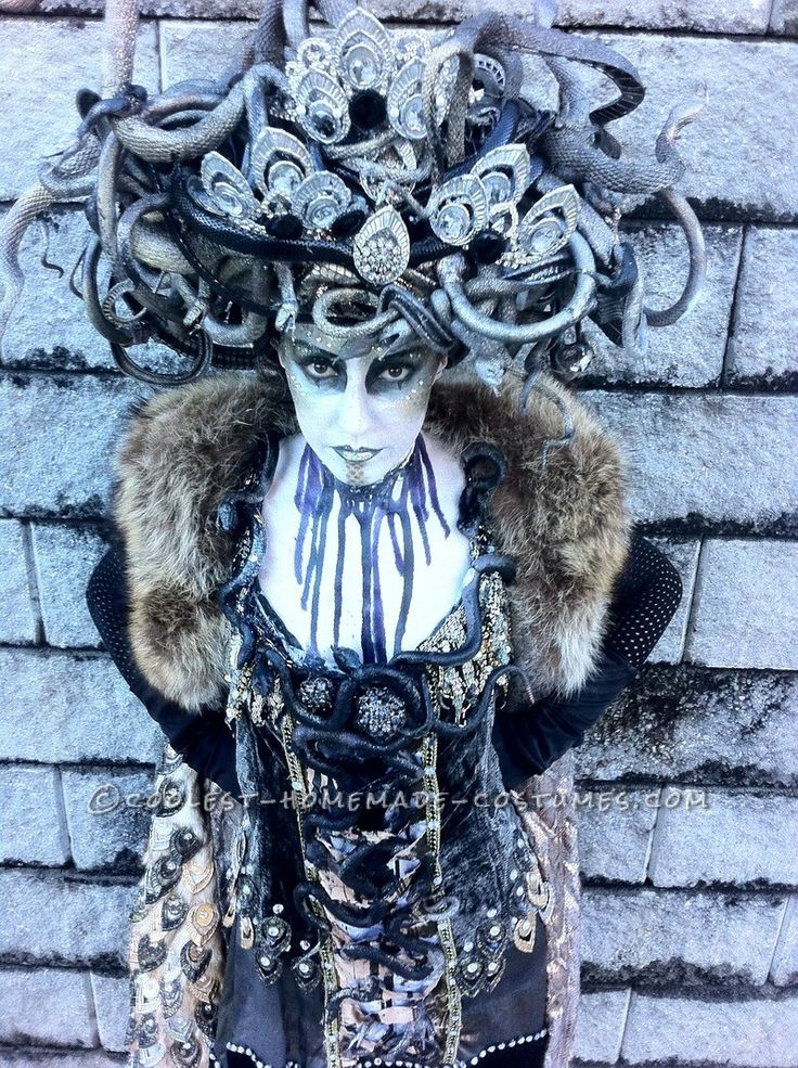 Amazing Hand Made Art Deco Medusa Costume... This website is the Pinterest of costumes