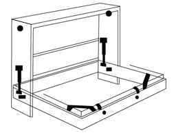 "Murphy Bed Mechanism. Queen size can hold bed 10-12"" deep and weighing"