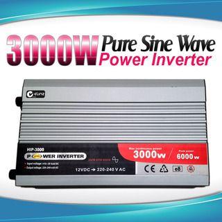Pure Sine Wave Power Inverter 3000w / 6000w 12v - 240v AUS plug Car Boat Caravan