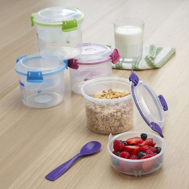 Not a morning person? Take your breakfast with you with a Klip It To Go Breakfast Container. Clip on lid prevents spills and lightweight plastic makes it easy to bring wherever you go!