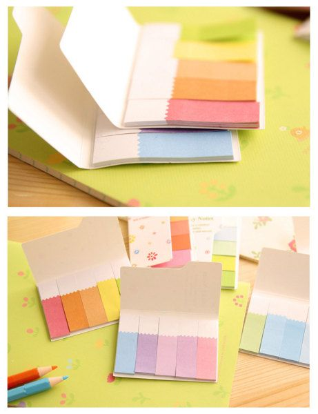 Mini Colour Strip Sticky Notes Kawaii Sticky Note by TodTots