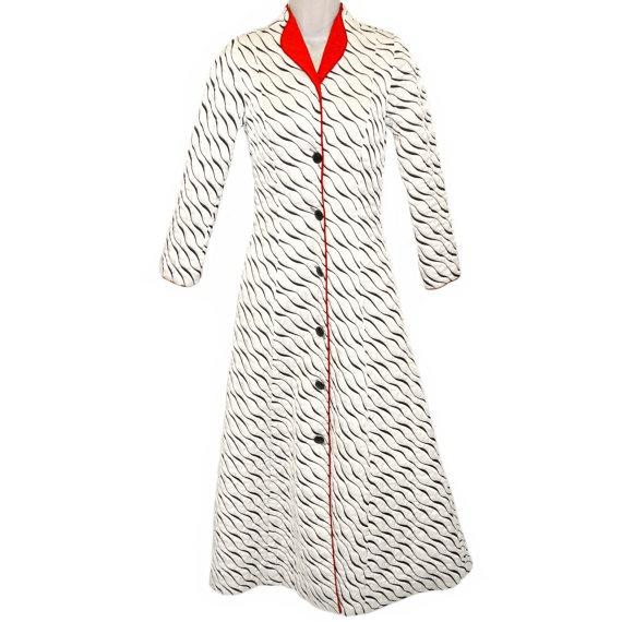 Odette Barsa Robe /  Art Deco Evening Coat / Bonwit Teller Hollywood Regency /  Burlesque /Rita Hayworth