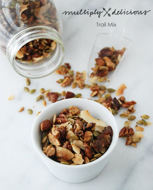 Sweet and Salty Paleo Trail Mix with maple syrup, cinnamon, ginger, salt etc..