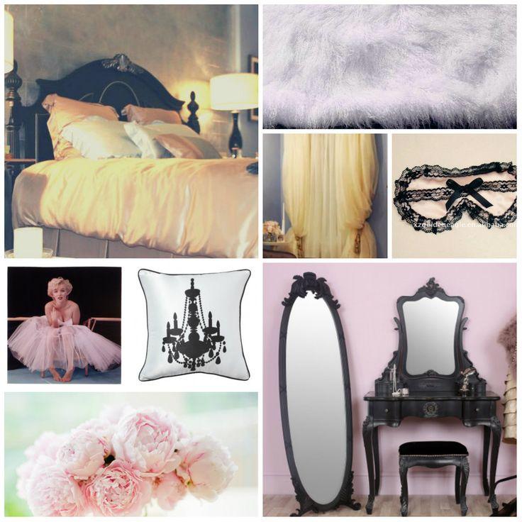 Дизайн комнаты для леди. Розовый, черный, сиреневый и персиковый